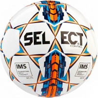Minge fotbal Select Contra 5 IMS 2018 alb-albastru-portocaliu 13479