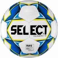 Minge fotbal Select Numero 10 IMS 5 2019 alb-albastru-galben 15056