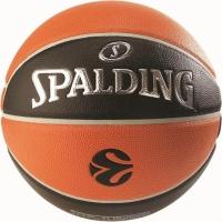 Mingi de Baschet Spalding Euroleague portocaliu-negru gazon sintetic-1000 Legacy
