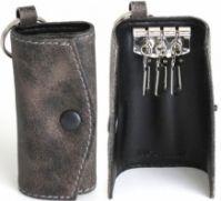 Morellato Mod Portachiavi In Pelle din piele Keychain- Vintage gri