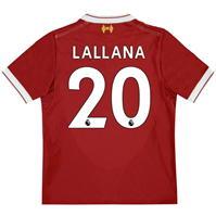 New Balance Liverpool Home Lallana Shirt 2017 2018 pentru copii
