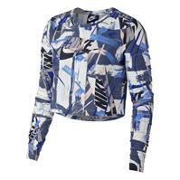 Bluza scurta Nike Whatever Print cu Maneca Lunga pentru Femei