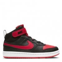 Nike Court Borough Mid 2 Little Shoe pentru Copii negru rosu