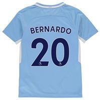 Nike Mancester City Home Bernardo Silva Shirt 2017 2018 pentru copii