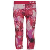 Nike Pro cu imprimeu antrenament Capris pentru fetite