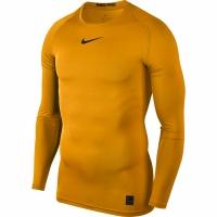 Tricou Nike Pro Top compresie maneca lunga galben 838077 739 pentru barbati