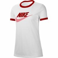 Nike W Tee Futura Ringe alb-rosu CI9374 101 femei
