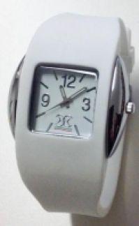 Overclocks Mod Round Small alb Quartz Chrome Metal Case Miyota Mov pentru Femei