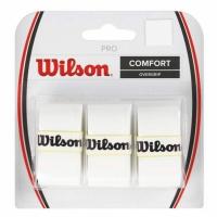 Set 3 Mansete sport WILSON PRO COMFORT OVERGRIP alb / WRZ4014WH