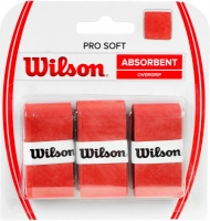Set 3 Mansete sport WILSON PRO moi si absorbante OVERGRIP rosu / WRZ4040OR