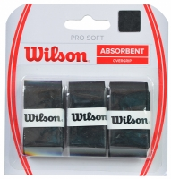 Set 3 Mansete sport WILSON PRO moi si absorbante OVERGRIP negru / WRZ4040