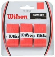 Set 3 Mansete sport WILSON PROFILE OVER GRIP rosu / WRZ4025