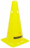 Con antrenament fotbal RONNAY cu gauri galben 30cm 40303