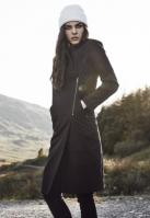 Palton asimetric lung cu fermoar pentru Femei negru Urban Classics