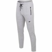 Pantaloni barbati 4F Cool gri deschis Melange H4Z19 SPMD072 27M