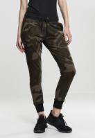 Pantaloni Camo Terry pentru Femei oliv-camuflaj Urban Classics