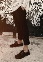 Pantaloni Cropped Terry negru Urban Classics