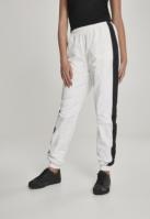 Pantaloni cu dungi Crinkle pentru Femei alb-negru Urban Classics