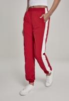 Pantaloni cu dungi Crinkle pentru Femei rosu-alb Urban Classics