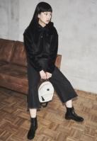 Pantaloni Culottes Denim pentru Femei negru-washed Urban Classics