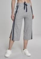 Pantaloni Culottes Taped Terry pentru Femei gri-bleumarin