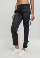 Pantaloni de trening cu nasturi pentru Femei negru-alb Urban Classics