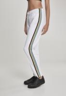 Pantaloni de trening dungi laterale multicolore pentru Femei alb Urban Classics