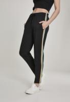 Pantaloni de trening dungi laterale multicolore pentru Femei negru Urban Classics