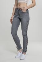 Pantaloni Denim cu siret Skinny pentru Femei gri Urban Classics