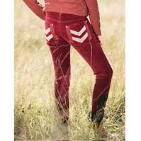 Pantaloni echitatie Breeches echitatie Corduroy pentru copii