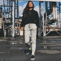 Pantaloni jogging Converse pentru Femei gri deschis