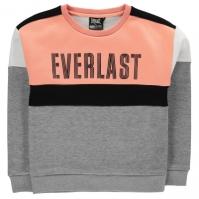 Bluze cu guler rotund Everlast cu imprimeu mare pentru fetite