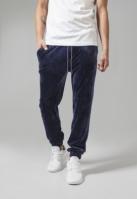 Pantaloni model tip catifea bleumarin Urban Classics