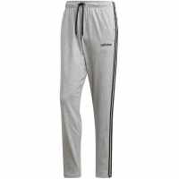 Pantaloni adidas Essentials 3 Stripes conici SJ fara mansete gri DQ3079 barbati