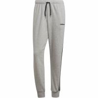 Pantaloni barbati adidas Essentials 3 Stripes conici FT cu mansete gri DQ3077