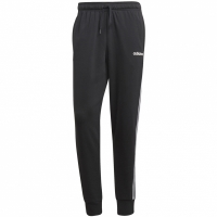 Pantaloni barbati adidas Essentials 3 Stripes conici FT cu mansete negru DU0468