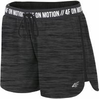Pantaloni scurti 4F H4L19 SKDF004 20M negru intens Melange femei