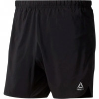 Pantaloni scurti barbati Reebok Run Essentials 5 Inch Short negru DU4269