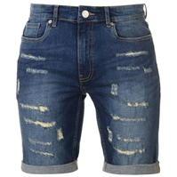 Pantaloni scurti blugi Firetrap Blackseal cu taieturi