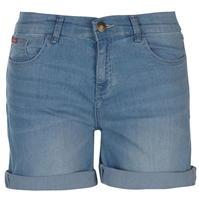Pantaloni scurti blugi Lee Cooper Regular pentru Femei