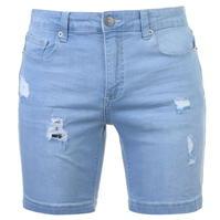 Pantaloni scurti blugi Level 1 Rip Repair pentru Barbati
