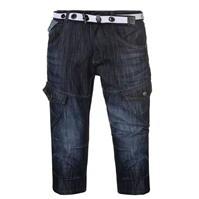 Pantaloni scurti cargo cu curea No Fear pentru Barbati