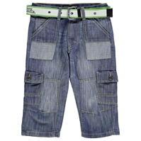 Pantaloni scurti cargo No Fear cu curea pentru baietei