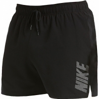 Pantaloni scurti de baie barbati Nike Logo Solid negru NESS9504 001