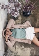 Pantaloni scurti Heavy Pique pentru Femei alb Urban Classics