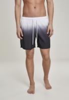 Pantaloni scurti inot Dip Dye alb-negru Urban Classics