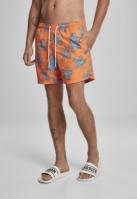 Pantaloni scurti inot Floral portocaliu Urban Classics