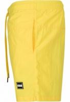 Pantaloni scurti inot galben-neon Urban Classics