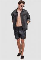 Pantaloni scurti inot negru-inchis Urban Classics camuflaj