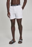 Pantaloni scurti inot Two in One alb-negru Urban Classics